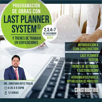 CURSO de ESPECIALIZACIÓN ONLINE Programación de Obras con Last Planner System y Trenes de Trabajo en Edificaciones