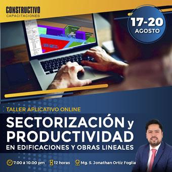 Tren de actividades, sectorización y productividad en edificaciones y obras lineales