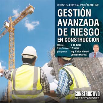 CURSO de ESPECIALIZACIÓN ONLINE GESTIÓN AVANZADA DE RIESGO EN LA CONSTRUCCIÓN