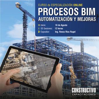 CURSO de ESPECIALIZACIÓN ONLINE Productividad con procesos automatizados en la construcción