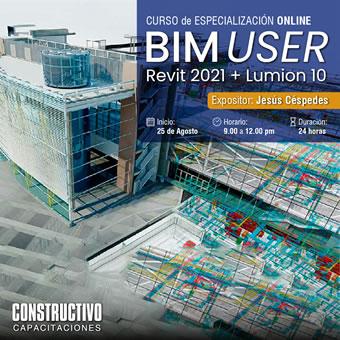 CURSO de ESPECIALIZACIÓN ONLINE BIM USER R + Lumion 10