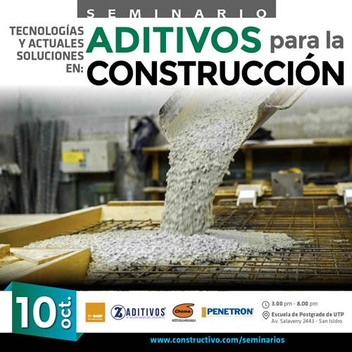 Tecnologías y Actuales soluciones en: ADITIVOS para la CONSTRUCCIÓN