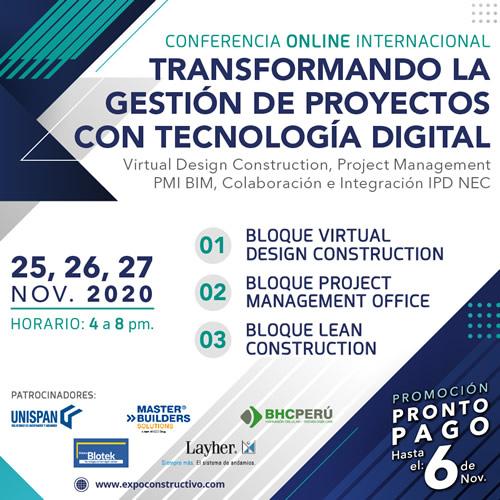 CONFERENCIA ONLINE INTERNACIONAL Transformando la Gestión de Proyectos con Tecnología Digital