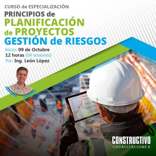 PRINCIPIOS de PLANIFICACIÓN de PROYECTOS y GESTIÓN DE RIESGOS