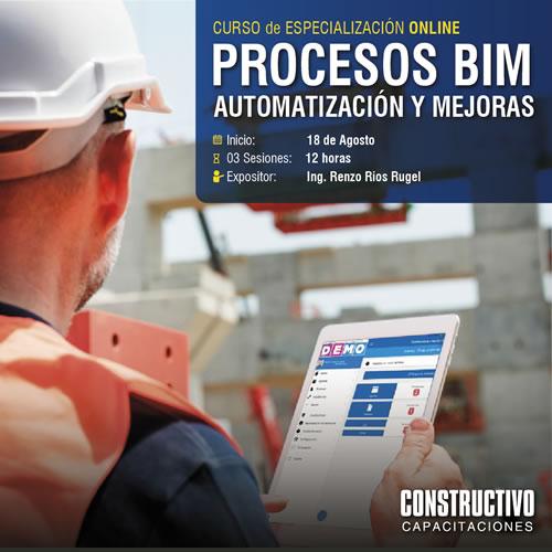 CURSO de ESPECIALIZACIÓN ONLINE en Productividad con procesos automatizados en la construcción