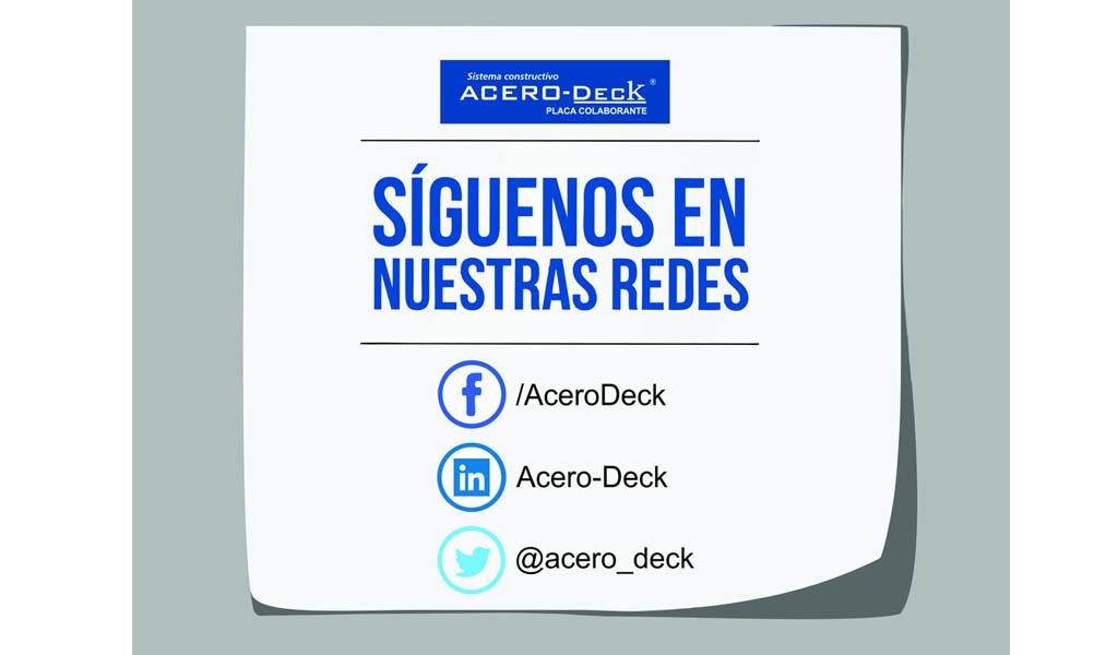 Acero-Deck  Placa Colaborante presente en redes sociales