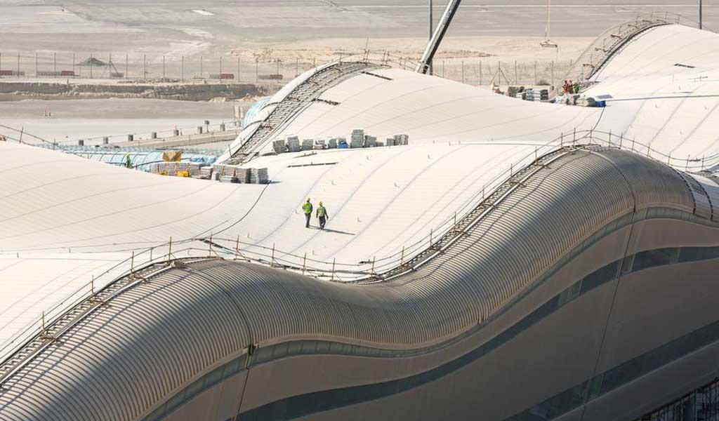 El aeropuerto de Abu Dhabi continúa con la construcción del terminal de Midfield