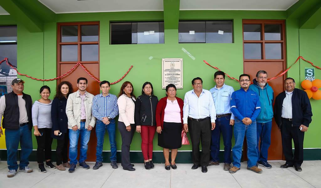 Más de 1,000 estudiantes se benefician con proyecto de mejora y ampliación de colegio en Pisco