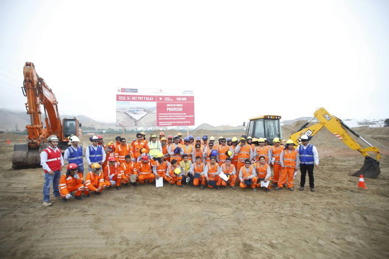 Inician construcción de la primera planta desalinizadora de agua para consumo humano del país