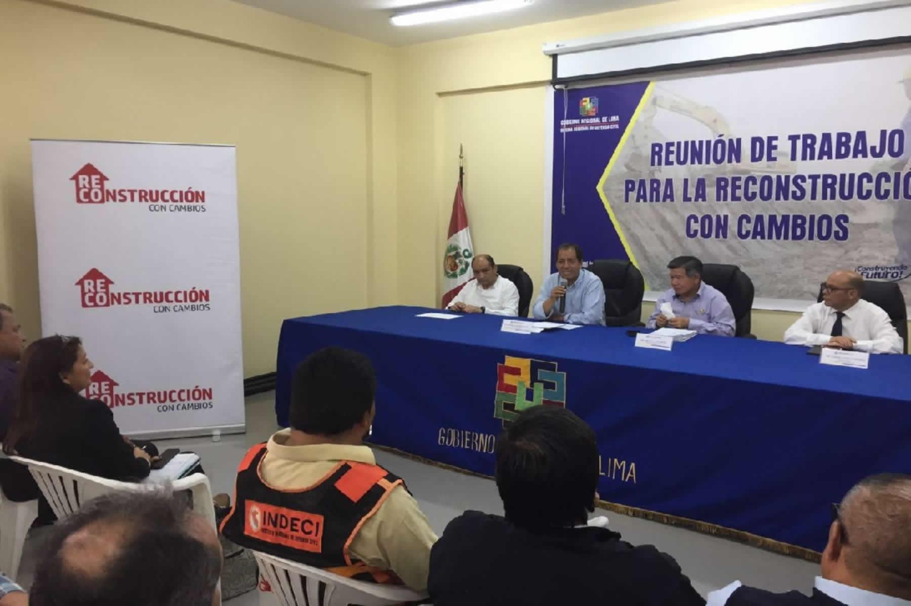 Reconstrucción con Cambios: priorizan obras para la región Lima