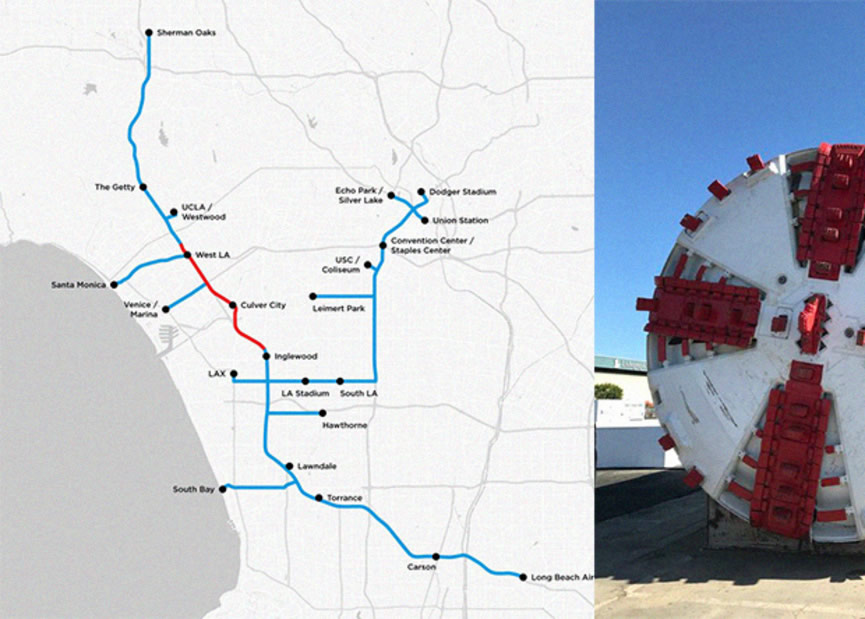The Boring Company mostró el mapa de sistema de túneles en Los Ángeles