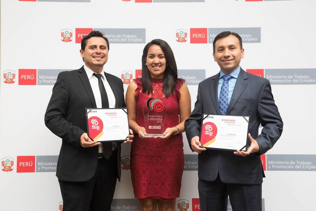 Cosapi recibe Premio Buenas Prácticas Laborales