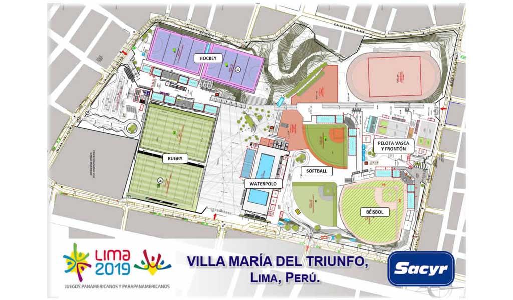 SACYR rehabilitará un complejo polideportivo para los juegos panamericanos en Lima (Perú)  por 61 millones de euros
