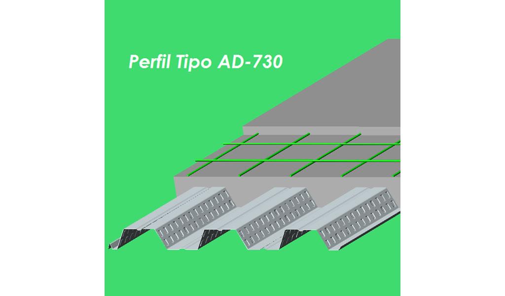 ACEROS PROCESADOS - Placa Colaborante AD-730