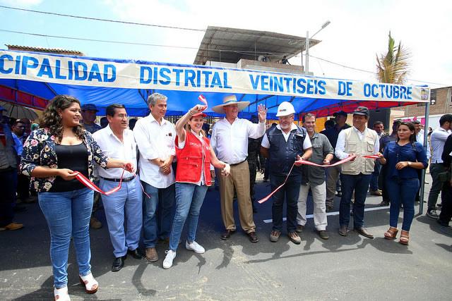 Mandatario supervisó los trabajos de rehabilitación de vías y prevención de emergencia en la carretera de Catacaos – Sechura – Óvalo Bayóvar.