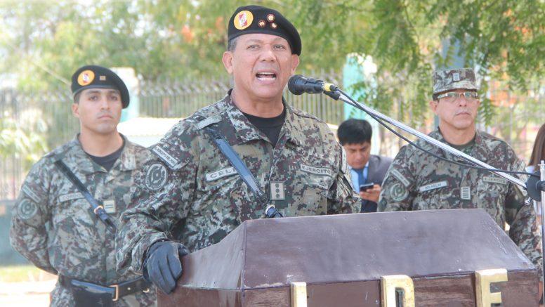 El nuevo comandante del Ejército anuncia apoyo en la construcción de 250 módulos de vivienda