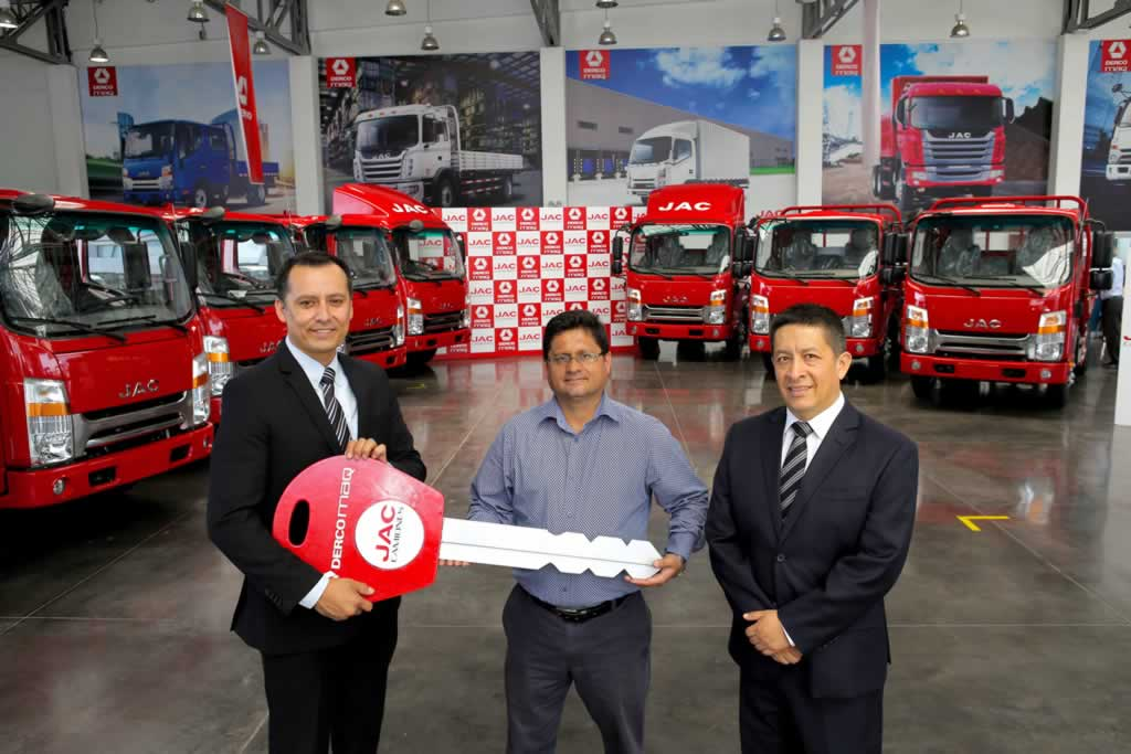 JAC entregó flota de camiones a CODIJISA, empresa del GRUPO JIMÉNEZ