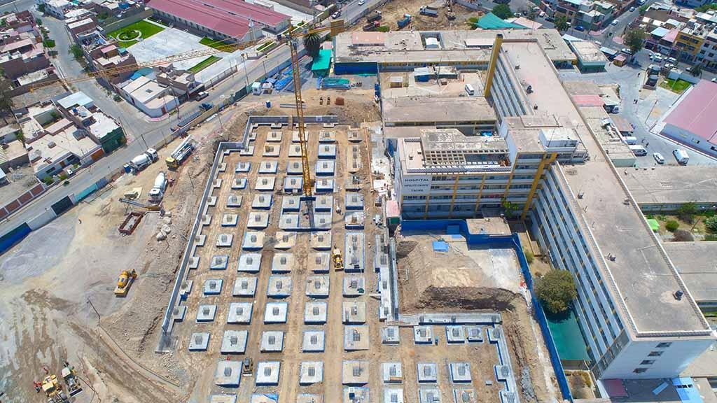 Así se ve desde el cielo la construcción del nuevo hospital de Tacna