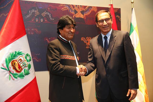 Presidentes Martín Vizcarra y Evo Morales acordaron la construcción del Corredor Ferroviario Bioceánico Perú - Bolivia