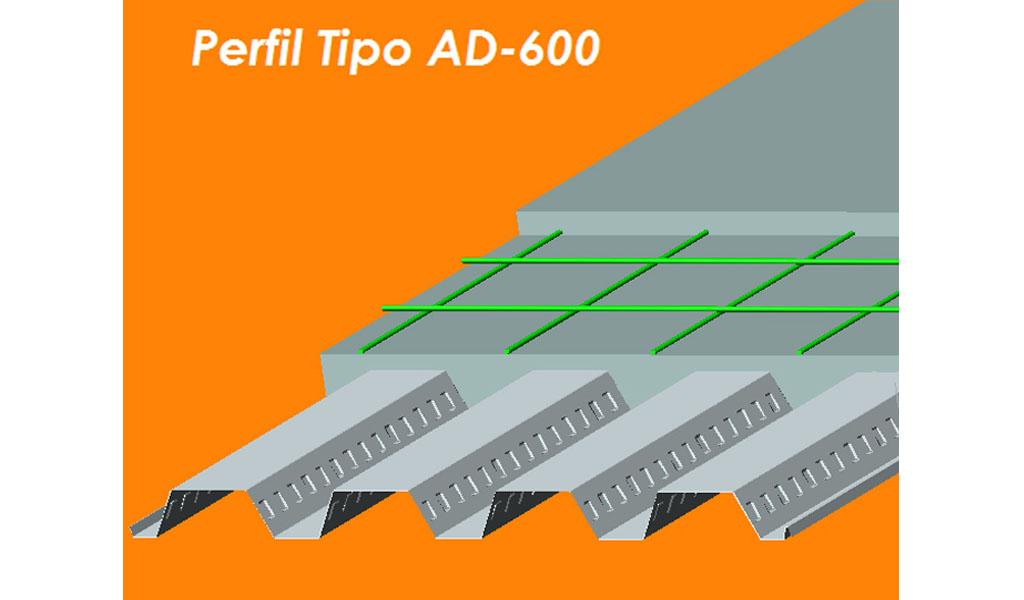ACEROS PROCESADOS - Placa Colaborante AD-600