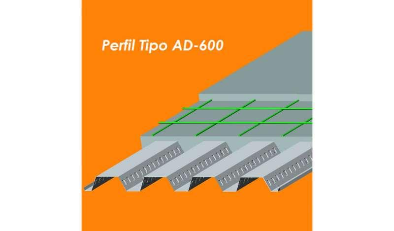 ACEROS PROCESADOS  - Placa Colaborante AD-600.