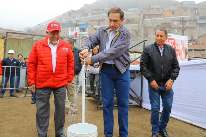 Presidente Vizcarra: Población de Valle Amauta 3, en Ate Vitarte accede a servicios de agua potable y desagüe después de 20 años
