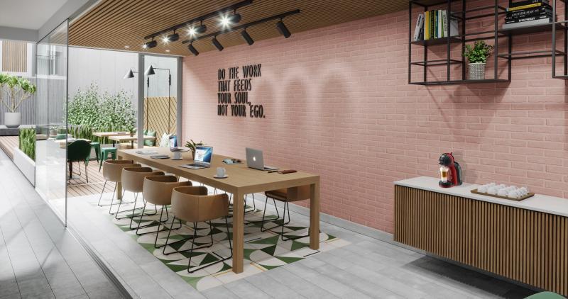 Crean edificios residenciales con espacios de coworking como áreas comunes