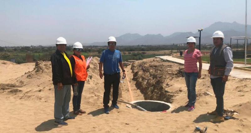 Obras de alcantarillado en Chepén están en un 25 %