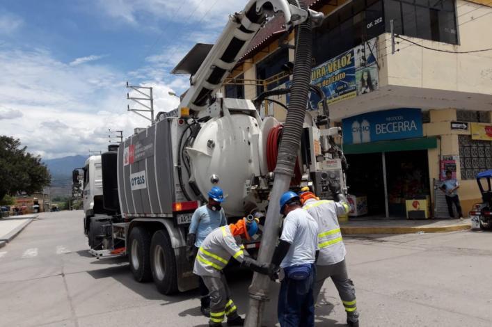 Limpiarán 13 kilómetros de redes de desagüe en Bagua Grande