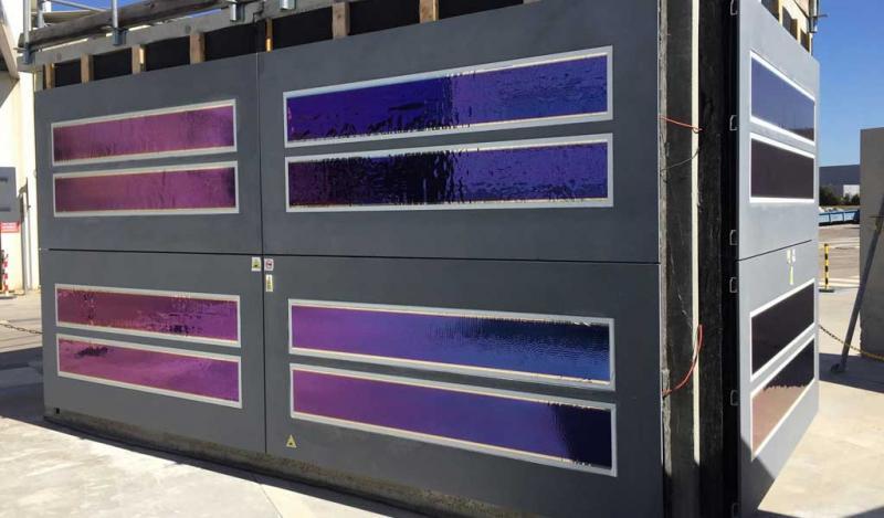 Fachada de concreto fotovoltaico utiliza la luz solar para generar energía