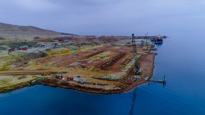 Modernización del puerto de Pisco alcanza un 16 % de avance