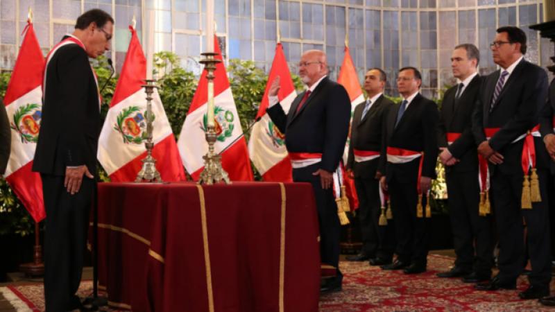 Carlos Bruce juró como nuevo ministro de Vivienda, Construcción y Saneamiento