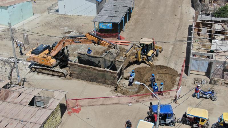 Obras de Reconstrucción con Cambios en saneamiento beneficiarán a 40,000 familias en Piura