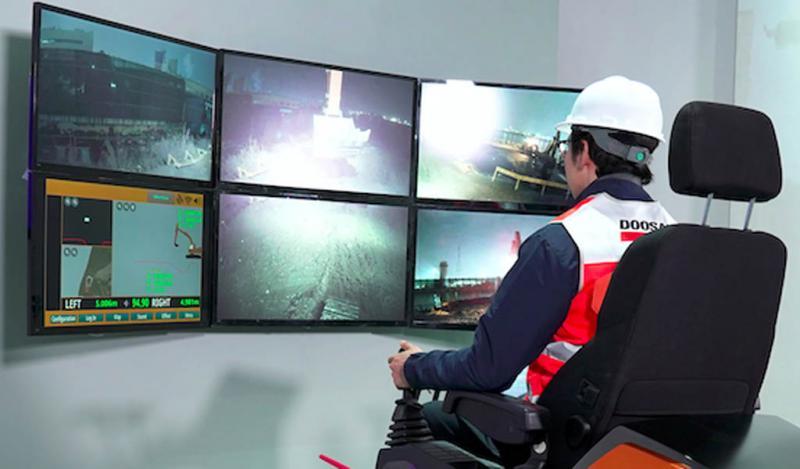 Doosan es la primera en utilizar 5G en la teleoperación mundial