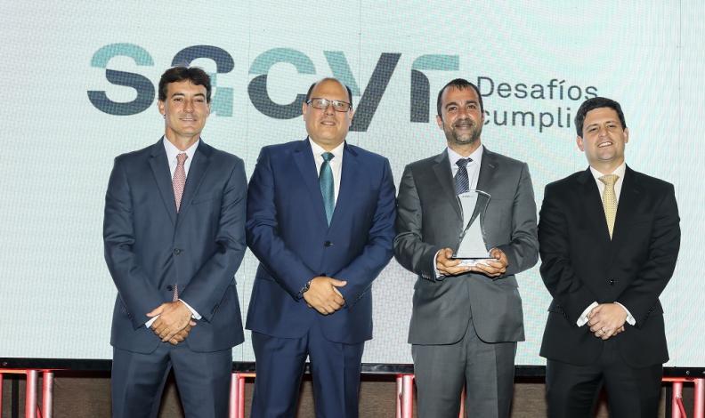 Sacyr recibe condecoración a la Mejor Gestión Integral de Riesgos Laborales 2018