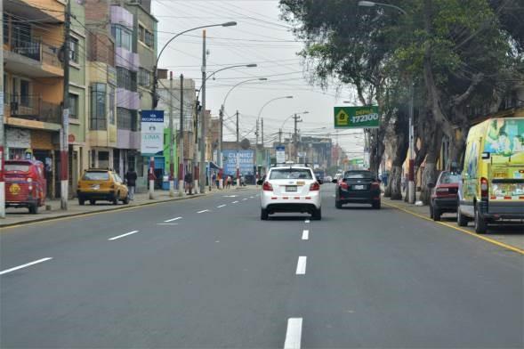 Municipalidad de Lima entrega pistas recuperadas de la avenida Francisco Pizarro