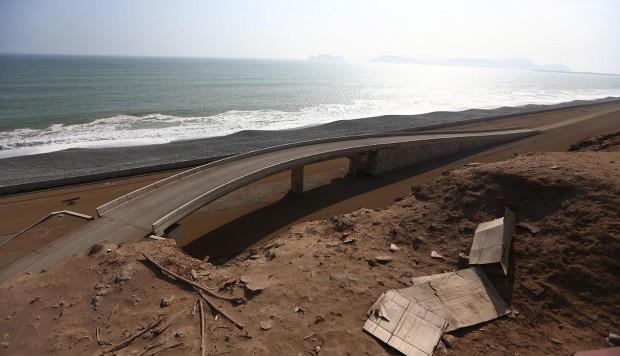 Obras de mejoramiento en la Costa Verde continúan abandonadas