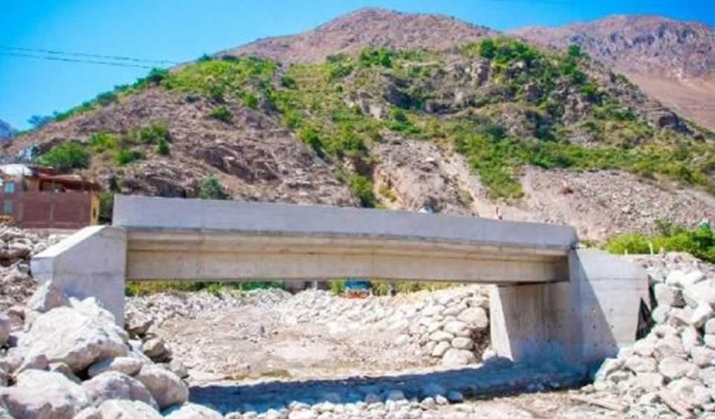 Puente Santa Cruz de Laya en Huarochirí fue inaugurado y ya está operativo