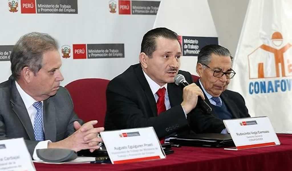 El CONAFOVICER y MTPE firman convenios a favor de los trabajadores de construcción civil.
