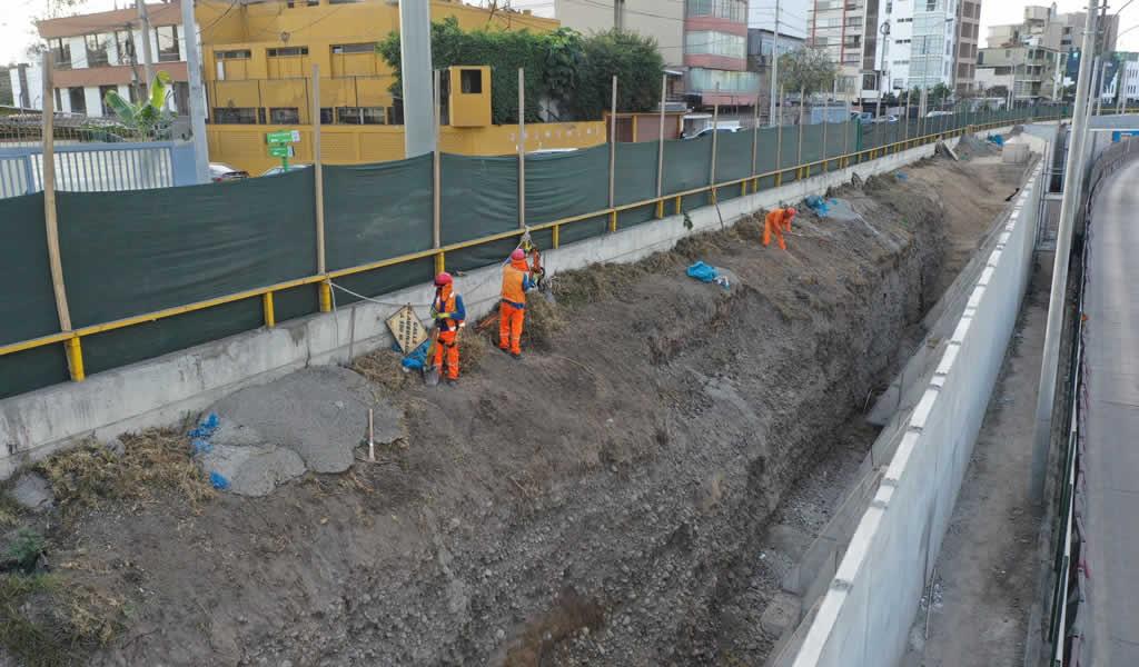 Municipalidad de Lima continúa obras en la Av. Paseo de la República