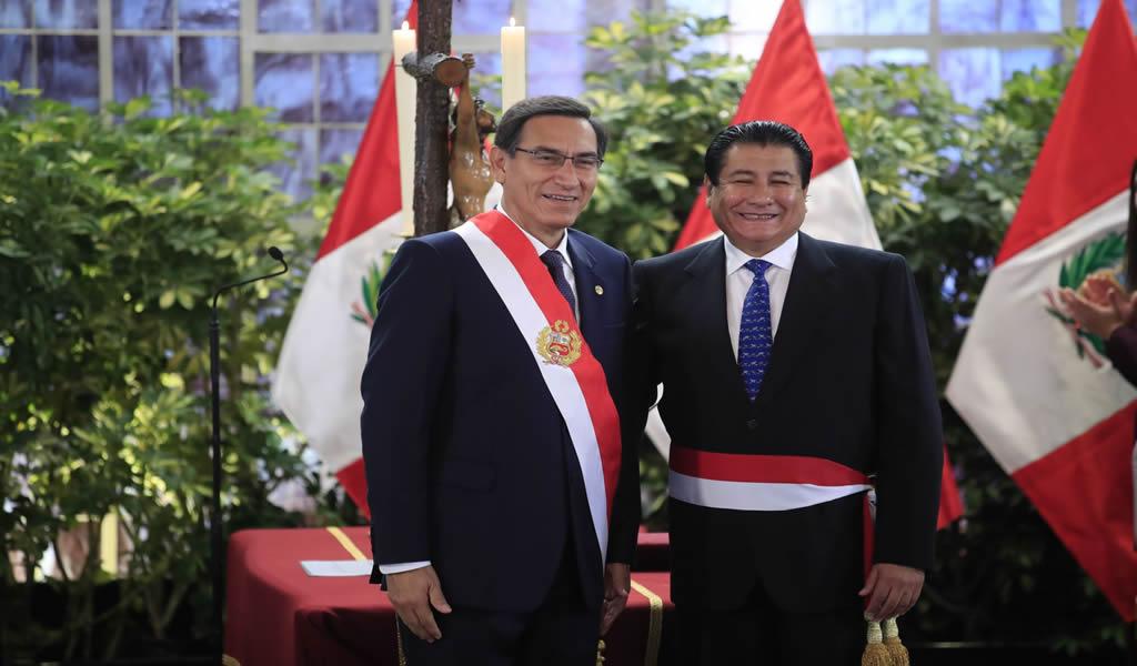 Rodolfo Yañez juró hoy como ministro de Vivienda, Construcción y Saneamiento
