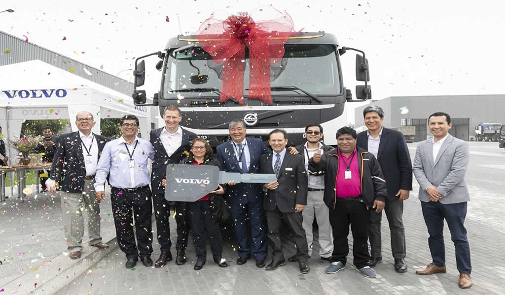 Transportes La Campiña S.A.C. fue la ganadora del Volvo FMX durante Perumin 34