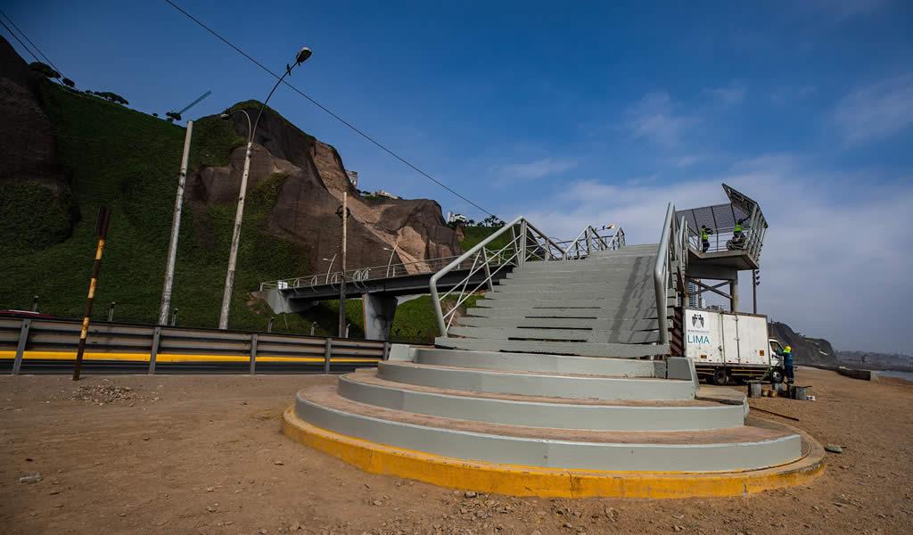 Municipalidad de Lima inició trabajos de mantenimiento en Costa Verde por próxima temporada de verano