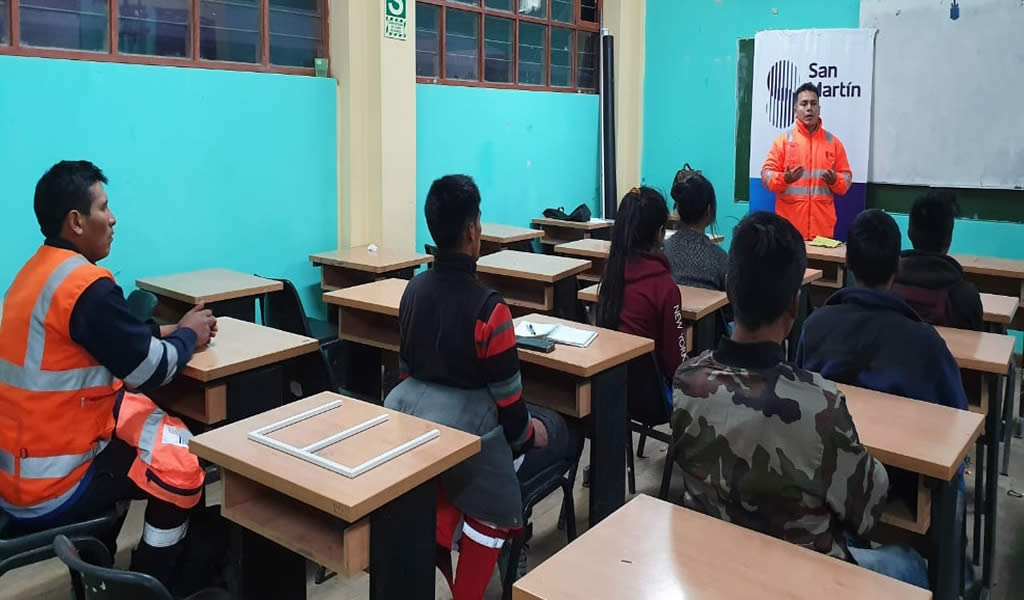 San Martín llevó a cabo taller para fortalecer capacidades técnicas
