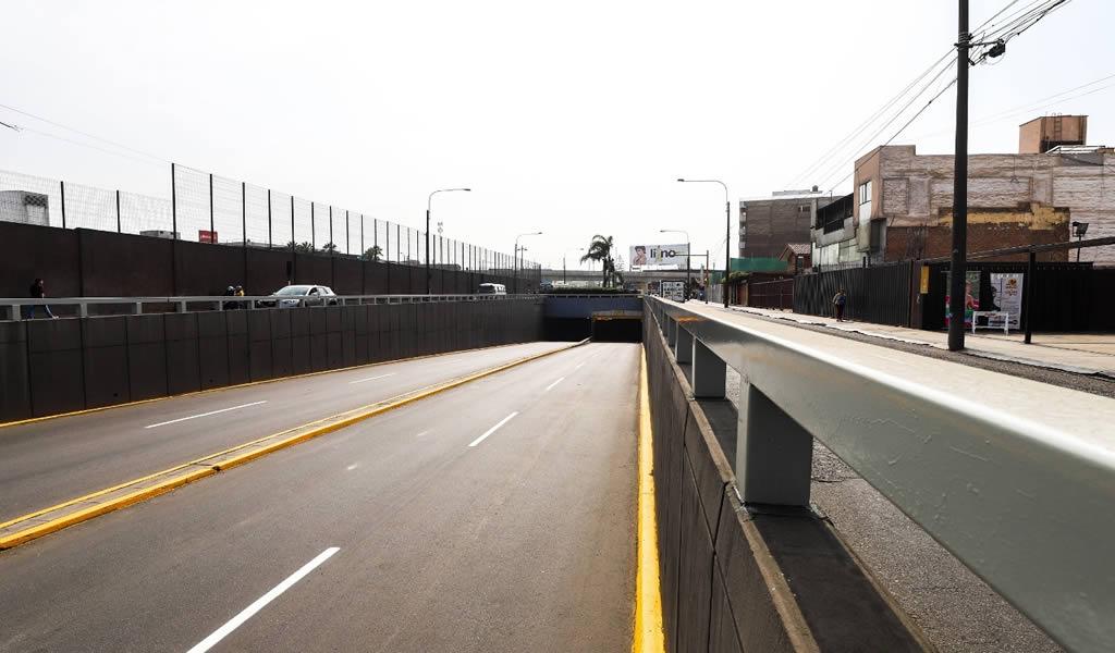 Municipalidad de Lima habilitó vía debajo del óvalo Higuereta