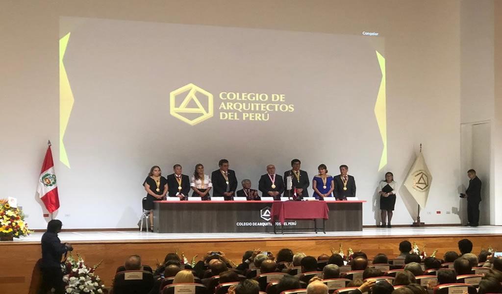 Colegio de Arquitectos del Perú nombró a su nuevo Decano Nacional
