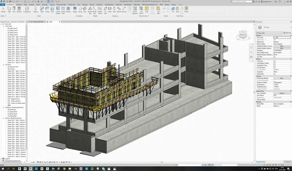 DokaCAD para Revit: Potente software para la planificación productiva de encofrados en BIM