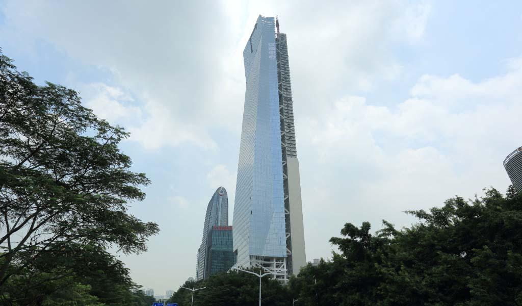 Dos torres, una estructura