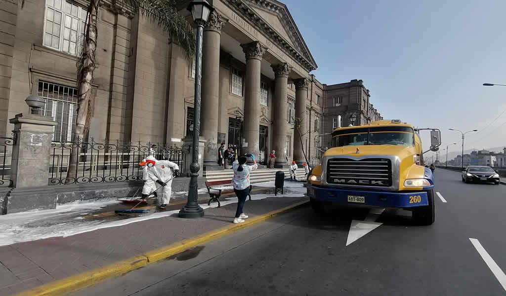 UNICON y varias municipalidades de Lima Metropolitana se unen para realizar campaña de limpieza y desinfección