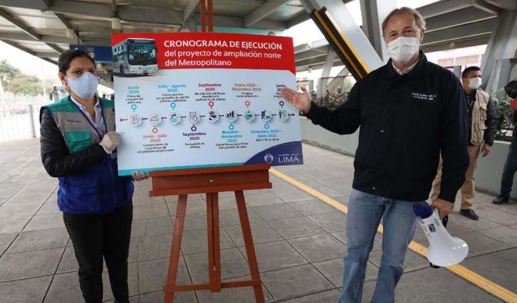 Municipalidad de Lima iniciará en diciembre construcción del tramo norte del Metropolitano